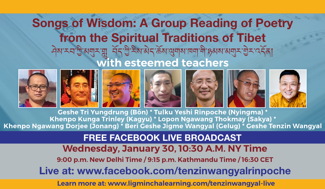 Songs of Wisdom. A Group Reading of Poetry from the Spiritual Traditions of Tibet
